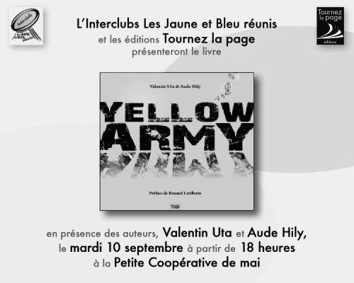 lancement livre yellow army valentin uta photographe professionnel clermont ferrand 63. Black Bedroom Furniture Sets. Home Design Ideas
